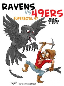 Superbowl is coming up to the excitiment of everybody, pic: cartoonaday.com