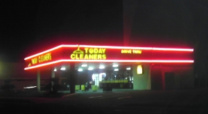 The drive thru dry cleaner.  I should have known it existed.  Pic: mine